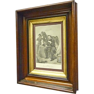 Victorian Frame with Civil War Print