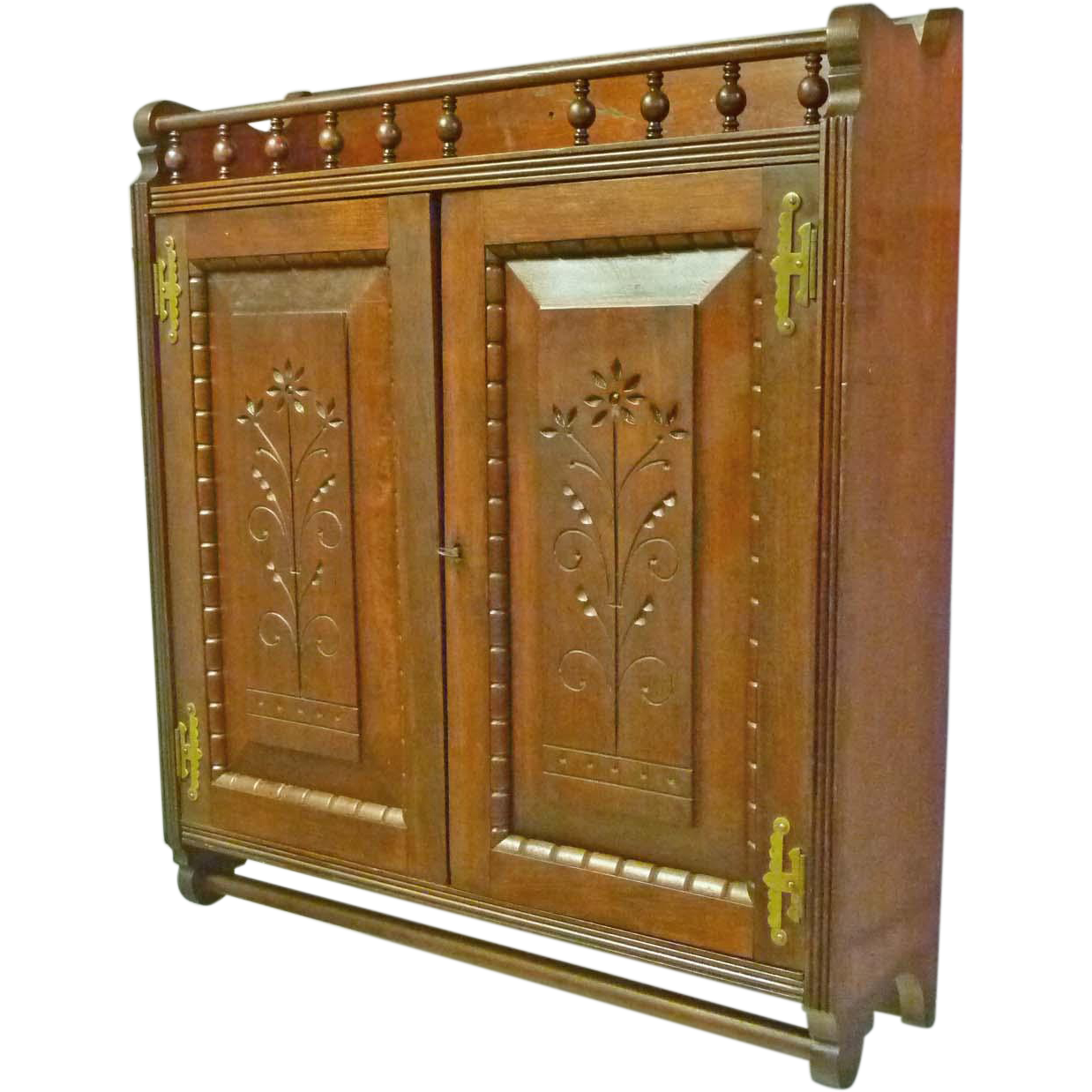 Cherry Victorian Wall Hanging Cabinet