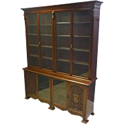 Large Mahogany Bookcase or China Display Cabinet