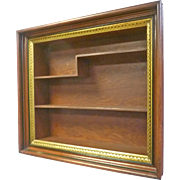 Walnut Victorian Shadow Box Frame