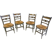 Set of 4 Hitchcock, Fancy Chairs