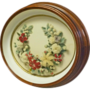 Victorian Walnut Oval Deep Frame with Felt Wreath