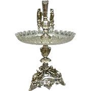 Victorian Figural Silver Plate Epergne, Centerpiece