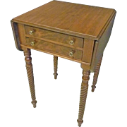 Drop Leaf Work Table, 2 Drawer Stand