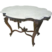 Large Turtle Top Victorian Table