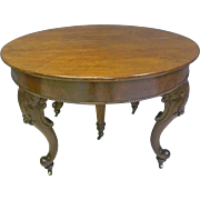 Small Round Victorian Dining Table