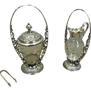 Meriden Silver Plate Sugar & Cream Set