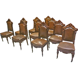 Set of 10 Victorian Dining Chairs