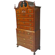 Chippendale Mahogany Chest on Chest of Drawers
