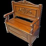 Mahogany Storage Bench