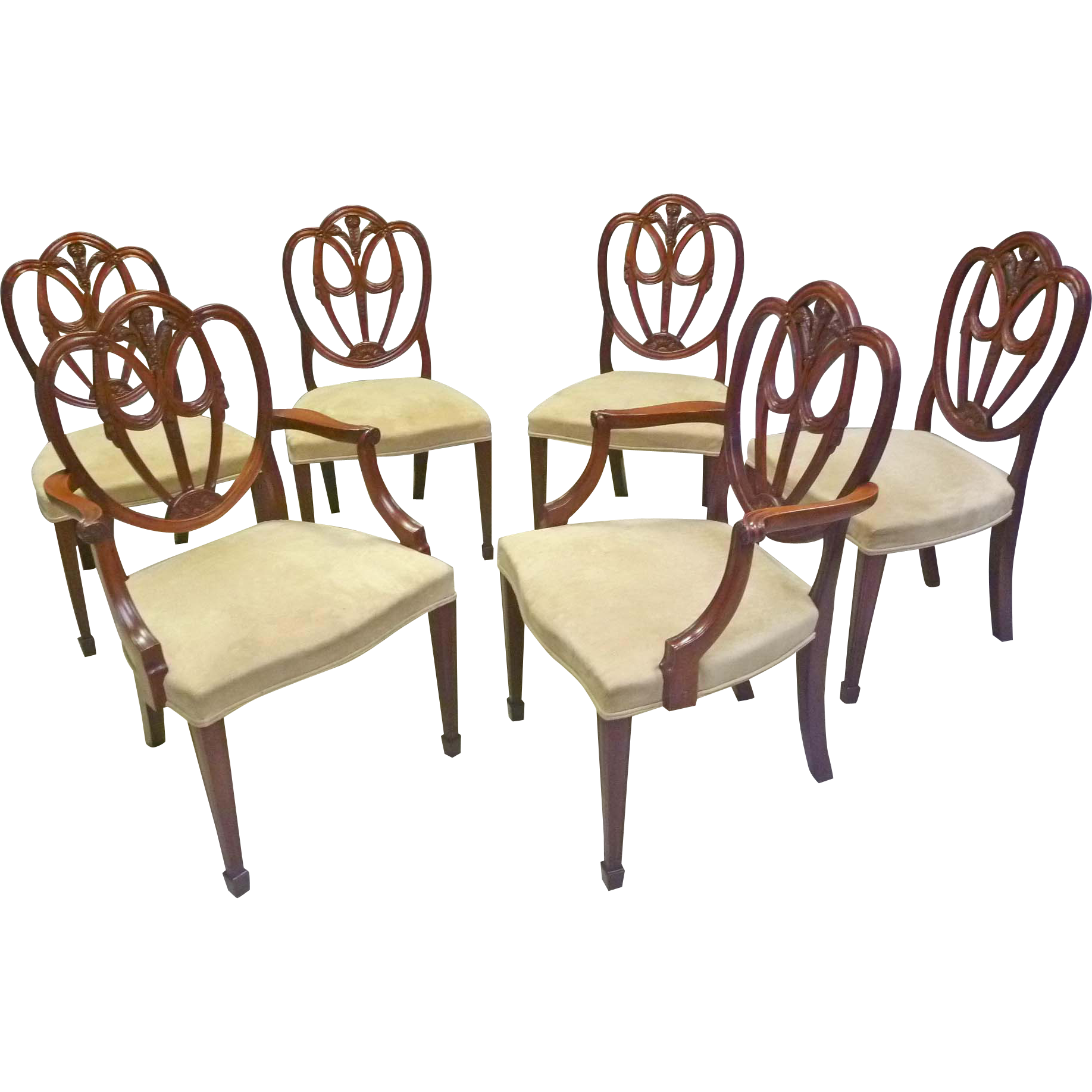 Set of 6 Shield Back Dining Chairs