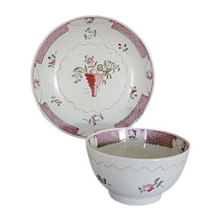 C. 1810 New Hall Tea Bowl and Saucer