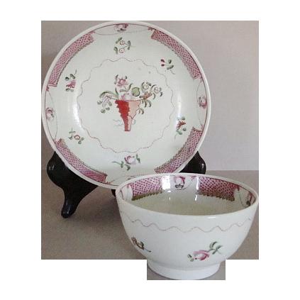 C. 1810 New Hall Tea Bowl and Saucer