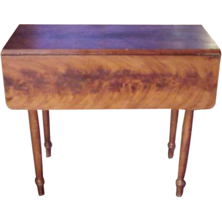 C. Mid 1800's Maine Grain Painted Table