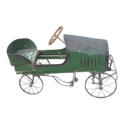 1910 Green Soap Box Derby Peddle Car