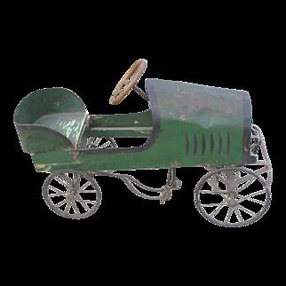 1910 Green Soap Box Derby Peddle Car