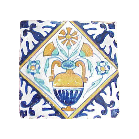 Dutch Delft Polychrome Tile c.1625
