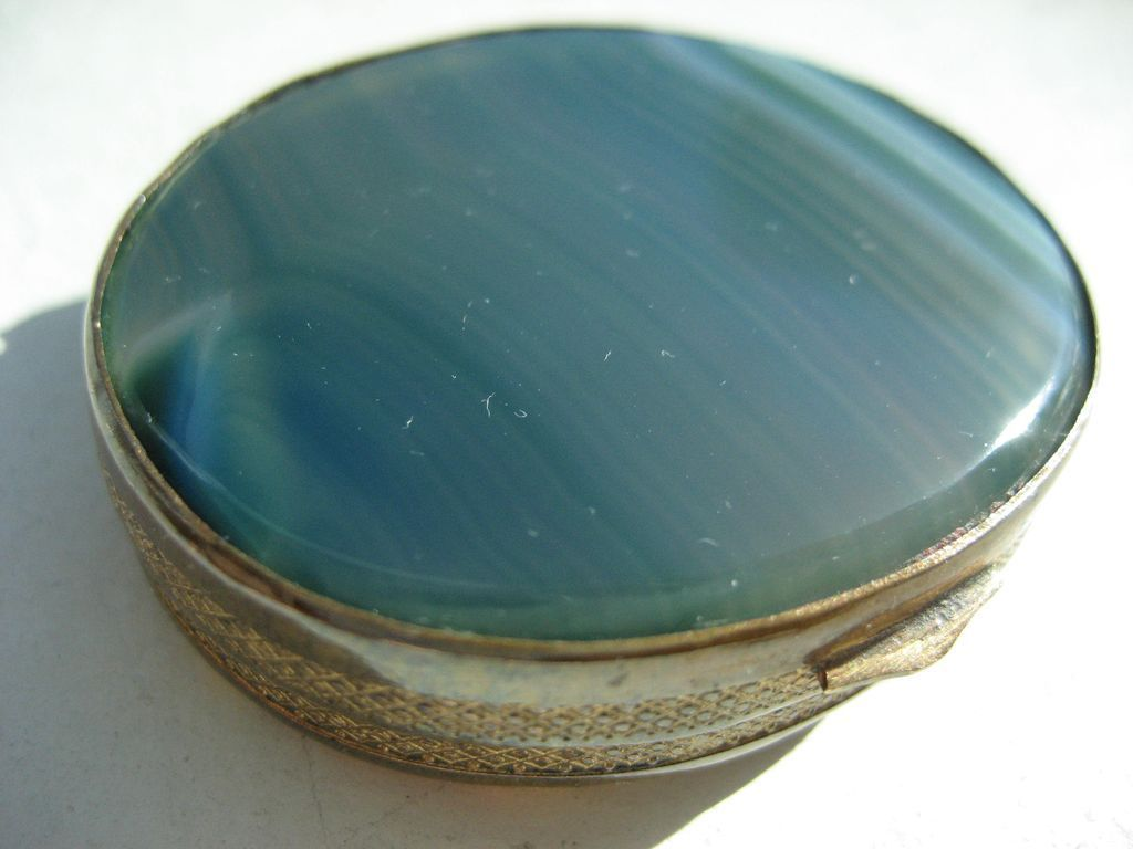 Antique Dual  Scottish Agate Snuff Box