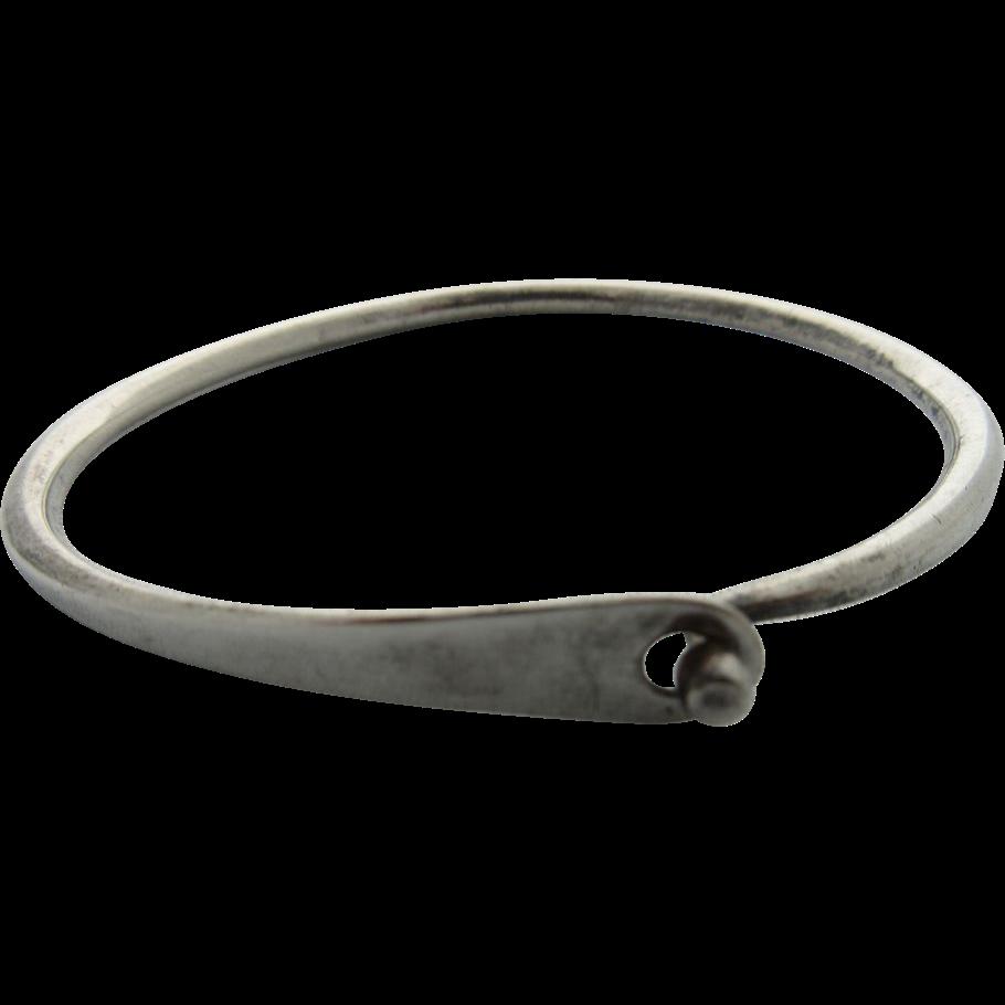 """Vintage """"Darla Hesse"""" Sterling Modernist Bracelet"""