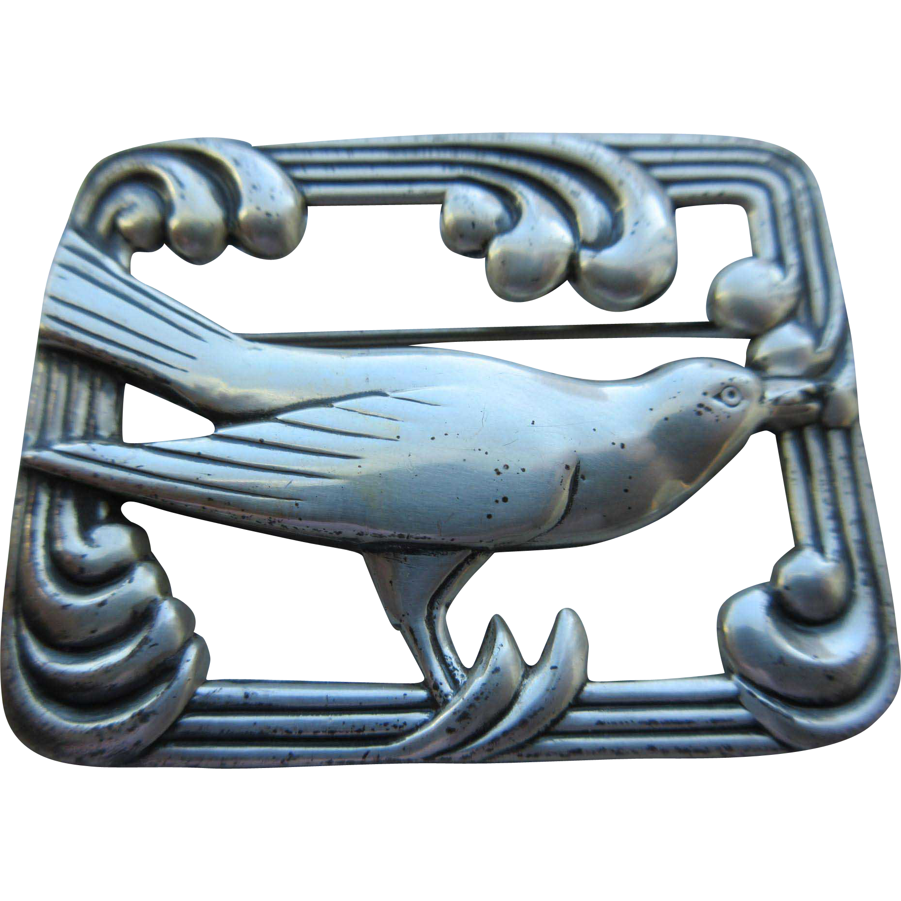 """Vintage 1940's """"Norseland By Coro"""" Sterling Brooch"""