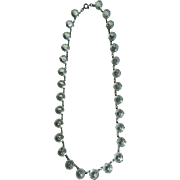 Vintage Art Deco Clear Crystal 15 Inch Necklace