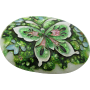 Vintage Hand Made Cloisonne` Enamel Butterfly Brooch