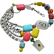 "Vintage Philippe Ferrandis ""Elvis Las Vegas"" French Designer  Necklace"
