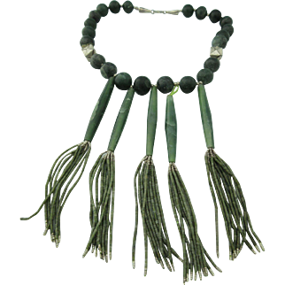 Antique Burmese Jade Necklace