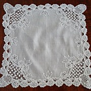 Vintage Princess Lace Wedding Handkerchief