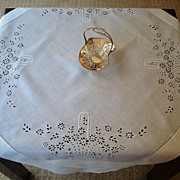 English Lace Tea or Bridge Cloth