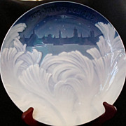 "Bing and Grondahl 1895-1915 Jubilee Plate ""Behind the Frozen Window"""