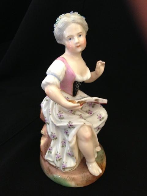 Antique Porcelain Figurine by Sitzendorf Dresden