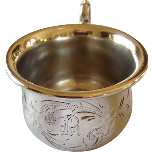 Engraved Silverplate Baby Cup