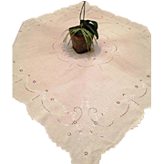 Madeira Embroidered Cut Work Tea Cloth