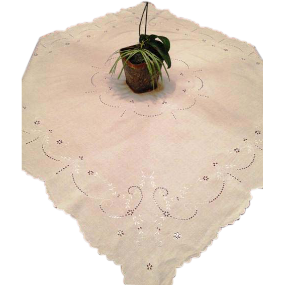 Madeira Embroidered Cut Work Tea Cloth