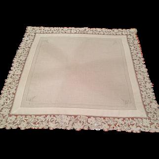 Antique Italian Needle Lace Tea cloth
