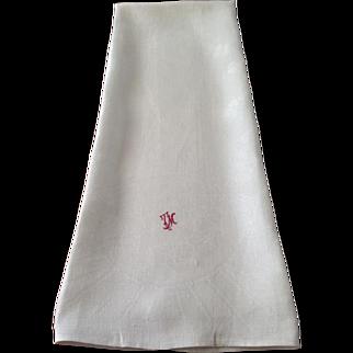 Art Nouveau Linen Bath Towel