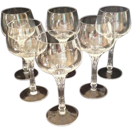 Six Signed Rosenthal Pavel Hlava Stemware Split Pattern