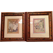 Agnes Richardson Framed Signed Coloured Prints