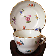 Meissen Demitasse Cup and Saucer