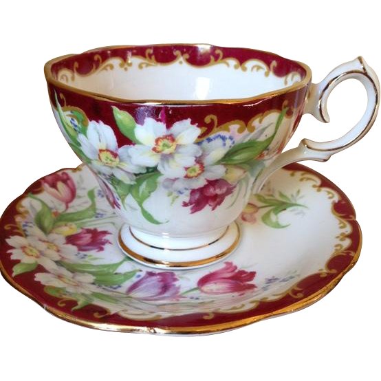 English Bone China Narcissus Tea Cup and Saucer