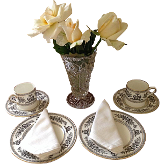 Two sets of three piece Wedgewood Demitasse
