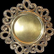 Photo frame - Art Nouveau brass round shape