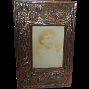 Arts & Craft-Art Nouveau Copper Photo Frame handmade