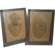 Arts & Crafts Copper photo frames - matching pair