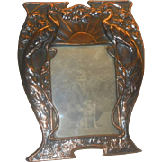 Art Nouveau Copper Handmade photo frame