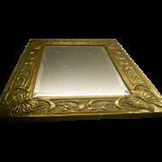 Arts & Crafts Brass Mirror Glasgow School - Possibly by Margaret Gilmour