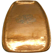 Arts & Crafts    Copper Tray by Hugh Wallis signed.