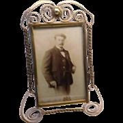 Art Nouveau Brass Frame