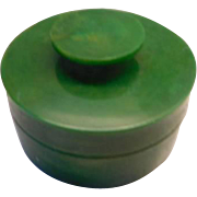 Art Deco Green Bakelite box